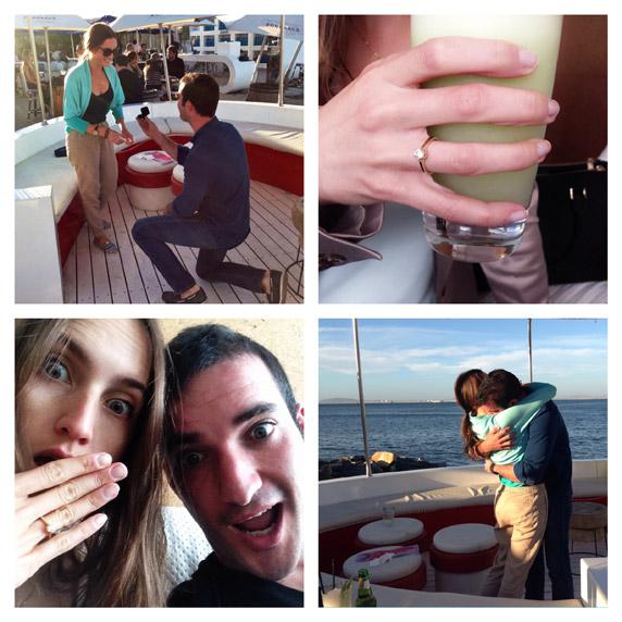 בערך שנה אחרי שעברנו לגור יחד, הגיעה הצעת הנישואין