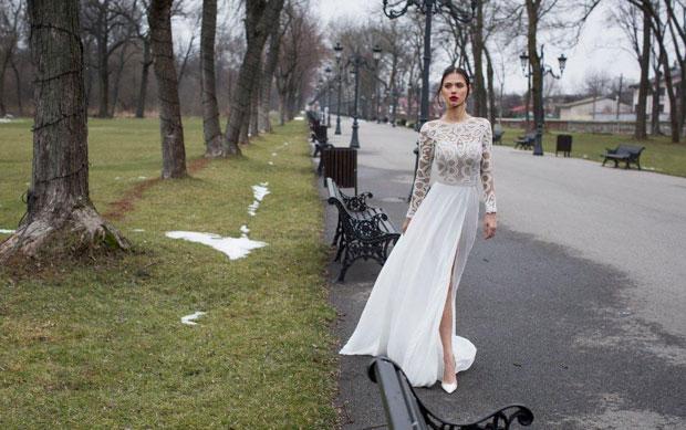 שמלה של המעצבת שלומית אזרד, בהשכרה בלבד, 17,000-8,000 ₪. צילום: אלכס ליפקין